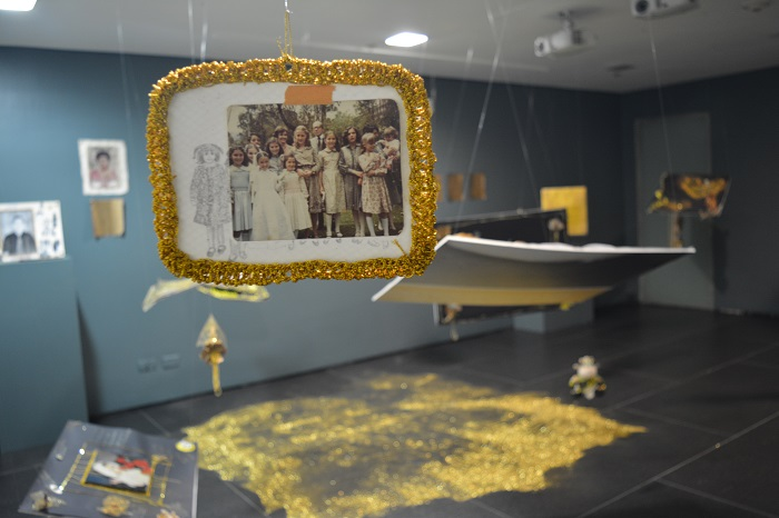 Imagen: Aspecto del proyecto Nósfera de reparación en el Museo del Oro. Foto: Anamaría González - Museo del Oro - Banco de la República.