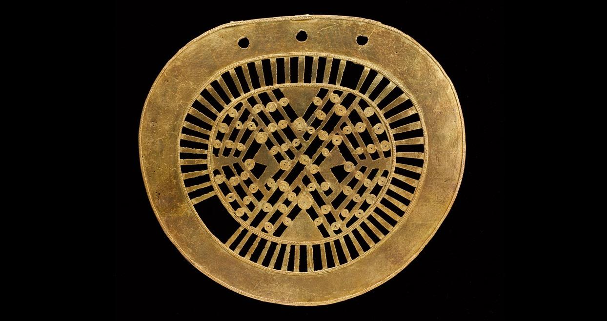 Colgante de orejera. Cordillera Oriental - Muisca, 600 d.C. - 1600 d.C. Ubaque, Cundinamarca. O07246, Colección Museo del Oro - Banco de la República. Foto: Clark Manuel Rodríguez.
