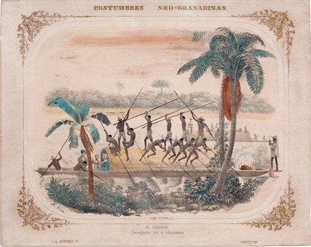 Bogas del río Magdalena. Colección de Artes Plásticas - Banco de la República