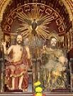 Santísima Trinidad. Anónimo. Siglo XVII. Iglesia de San Agustín. Talla de bulto en madera policromada y estofada. Tamaño natural.