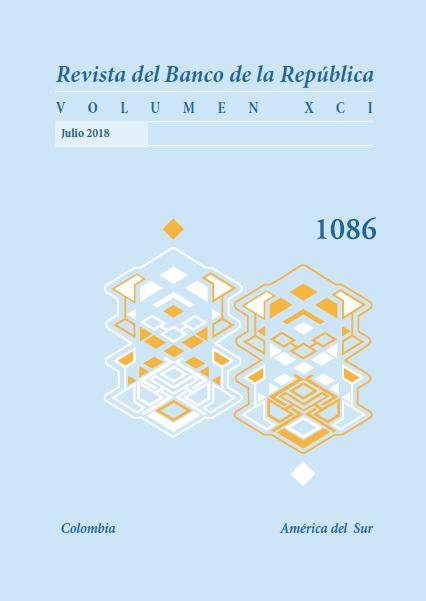 Revista Banco de la República, volumen 1086 de julio 2018