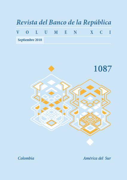 Revista Banco de la República, volumen 1087 de septiembre de 2018