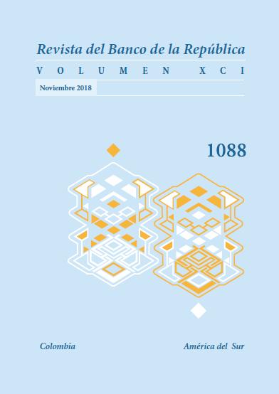 Revista Banco de la República, volumen 1088 de noviembre de 2018