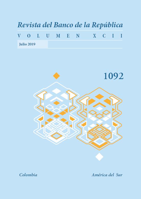 Revista Banco de la República, volumen 1092 de julio de 2019